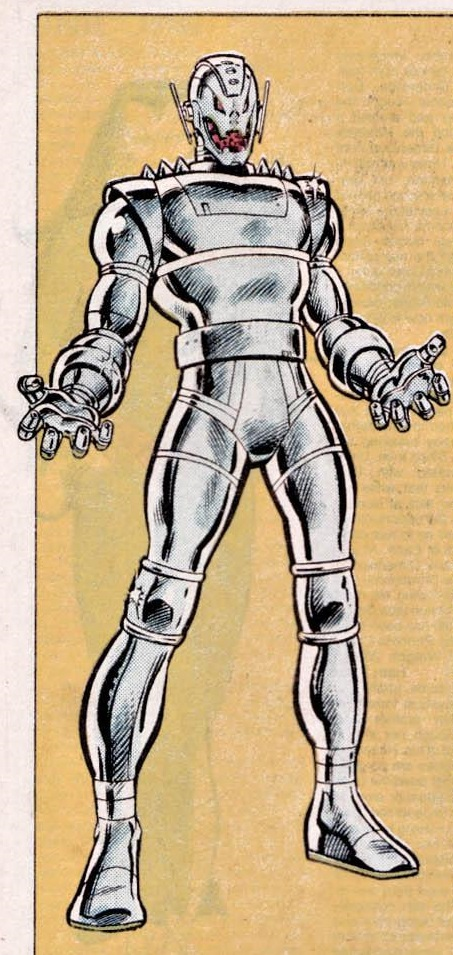From The Official Handbook of the Marvel Universe, Vol. 1, No. 11, Nov. 1983. Art by Kerry Gammill.