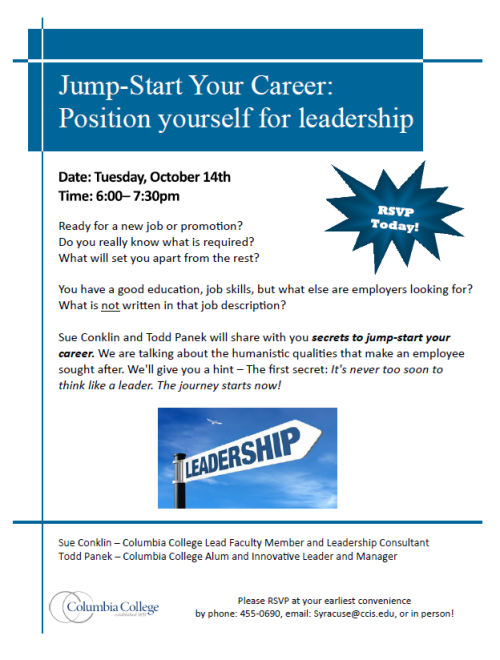 Position yourself for leadership