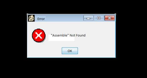 """Error: """"Assemble"""" Not Found"""