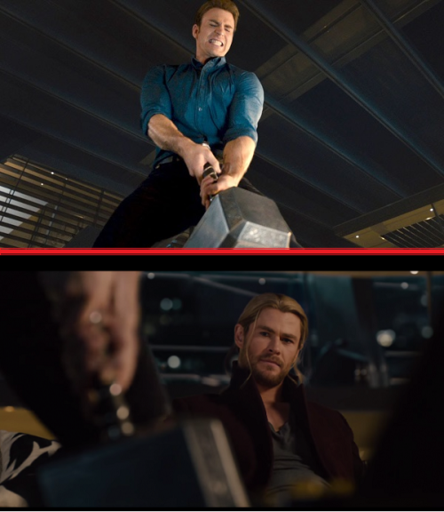 "Thor's best ""Oh Shit"" moment in Avengers: Age of Ultron."