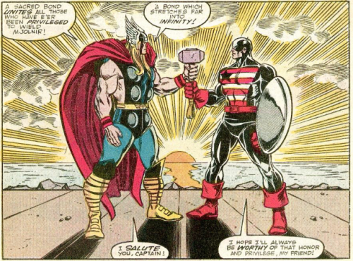 It's an elite club. (From The Mighty Thor, #390, Marvel Comics, 1988.)