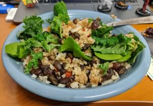 Black bean and brown rice bowl